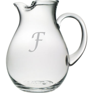 jcpenney.com | 1 Letter Script Monogrammed Glass Pitcher