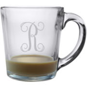 1 Letter Interlock Monogrammed Coffee Mug Set