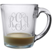 3 Letter Interlock Monogrammed Coffee Mug Set