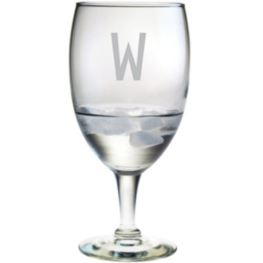jcpenney.com | 1 Block Monogrammed Footed Goblets