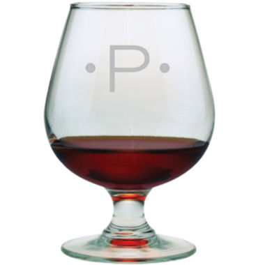 jcpenney.com | 1 Letter With Dots Monogrammed Brandy Snifters