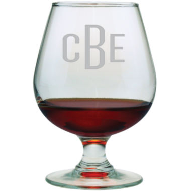 jcpenney.com | 3 Letter Block Monogrammed Brandy Snifters