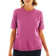 Alfred Dunner® Sweet Temptations Solid Sweater Shell