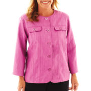 Alfred Dunner® Sweet Temptations Textured Jacket - Plus