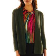Worthington® Textured Open-Front Cardigan Sweater