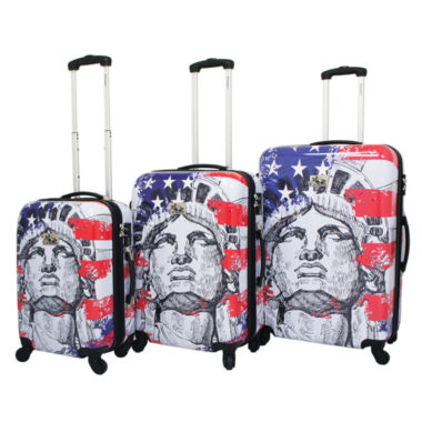 jcpenney.com | Chariot Travelware Liberty 3-pc. Hardside Luggage Set