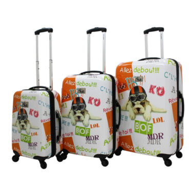 jcpenney.com | Chariot Fly Dog 3-pc. Hardside Luggage Set