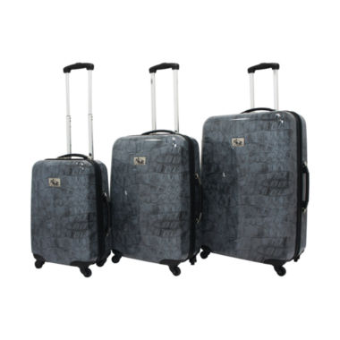 jcpenney.com | Chariot Travelware Crocodile 3 Piece Hardside 3-pc. Hardside Luggage Set