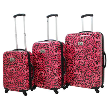 jcpenney.com | Leopard 3-pc. Hardside Luggage Set