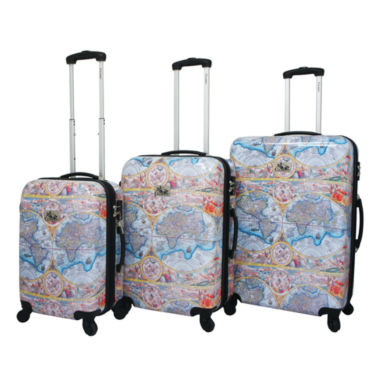 jcpenney.com | Chariot Travelware One World 3-pc. Hardside Luggage Set