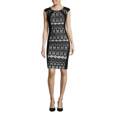 jcpenney.com | RN Studio by Ronni Nicole Sleeveless Lace-Inset Sheath Dress