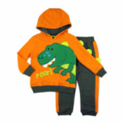 Novelty 2-pc. Dino Fleece Hoodie and Pants Set - Toddler Boys 2t-4t