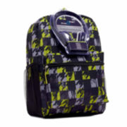 Herringbone Printed Backpack with Headphones - Boys