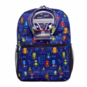 Robot Grid Backpack with Headphones - Boys