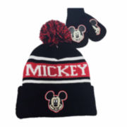 Disney Collections Mickey Hat and Mitten Set - Toddler Boys 2t-4t