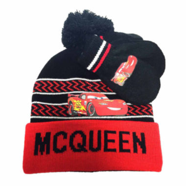 jcpenney.com | Disney Collections Lightning McQueen Hat and Mittens Set - Toddler Boys 2t-4t