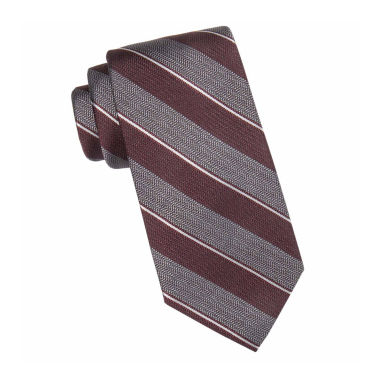 jcpenney.com | Collection by Michael Strahan™ Lakewood Textured Striped Silk Tie - Extra Long