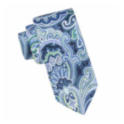 Stafford® Exploded Printed Paisley Silk Tie