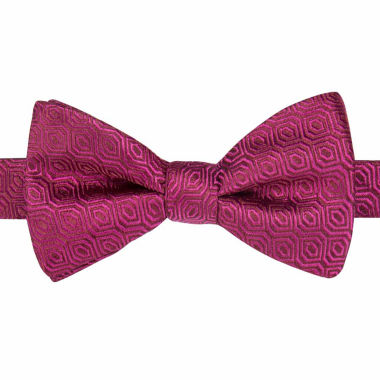 jcpenney.com | Stafford® Shreveport Non-Solid Geo Pre-Tied Bow Tie