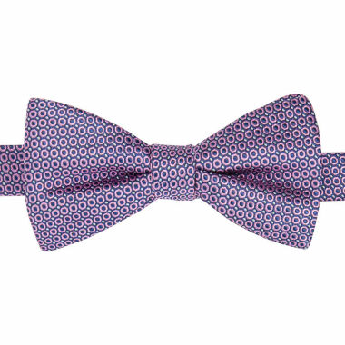 jcpenney.com | Stafford® Sabine Circle Geo Pre-Tied Bow Tie