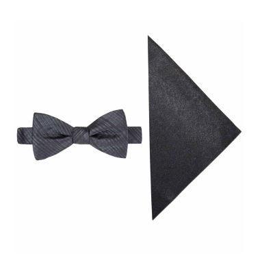 jcpenney.com | JF J. Ferrar® Textured Striped Bow Tie and Pocket Square Set