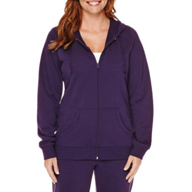 jcpenney.com | Made for Life™ Long-Sleeve Basic Hooded Fleece Jacket - Tall