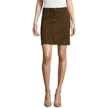 jcpenney.com | a.n.a® Button-Front A-Line Skirt