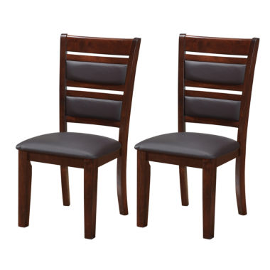 jcpenney.com | CHOCOLATE BROWN BONDED LEATHER DINING CHAIRS SET OF 2