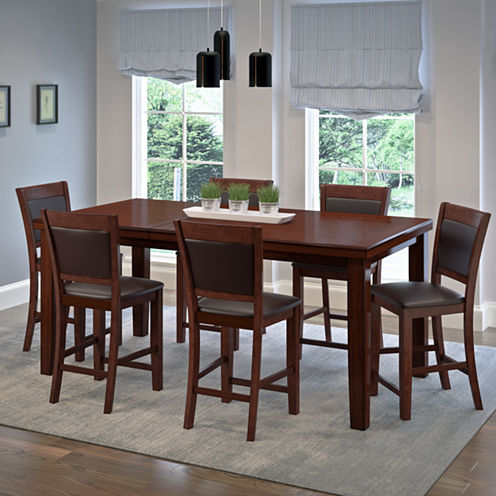 7-pc. Counter Height Extendable Dining Set