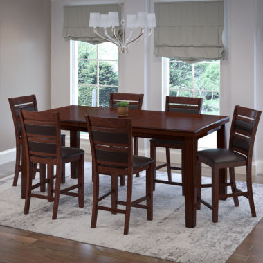 jcpenney.com | 7-pc. Counter Height Extendable Dining Set