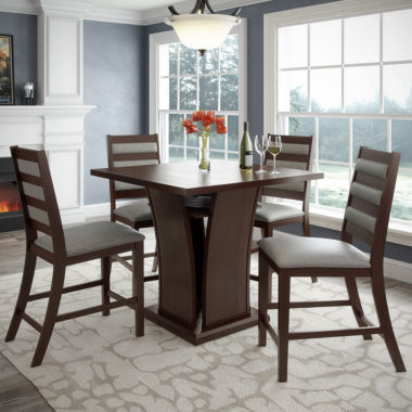 "jcpenney.com | Bistro 5-pc. 36"" Counter Height Cappuccino Dining Set"