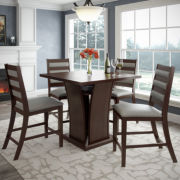 """Bistro 5-pc. 36"""" Counter Height Cappuccino Dining Set"""