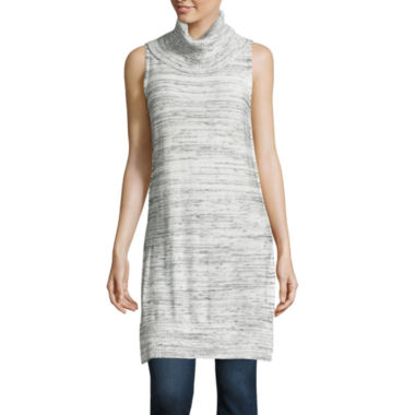 jcpenney.com | a.n.a® Sleeveless Turtleneck Tunic - Tall