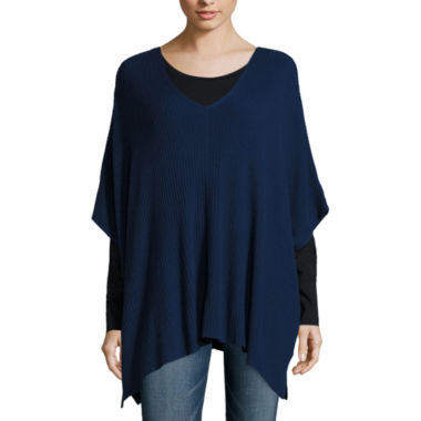 jcpenney.com | a.n.a® Sleeveless Ribbed Poncho - Tall