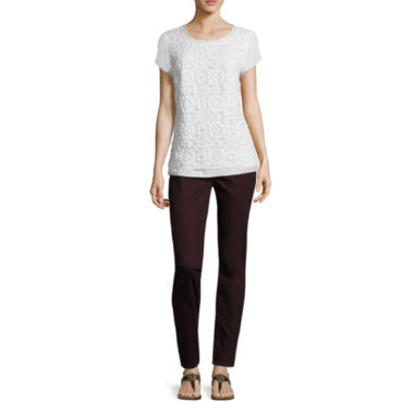 jcpenney.com | St. John's Bay® Short-Sleeve Lace Tee or Pull-On Jeggings