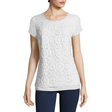 jcpenney.com | St. John's Bay® Short-Sleeve Lace Tee