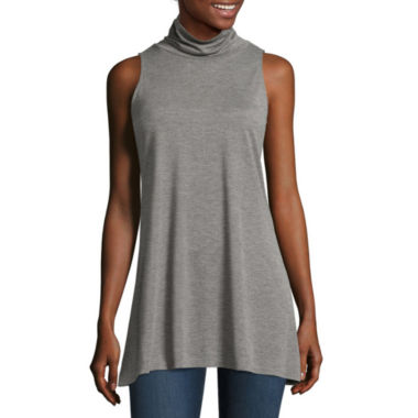jcpenney.com | Stylus™ Sleeveless Turtleneck Tunic