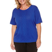 Alfred Dunner® Short-Sleeve Sweater Shell