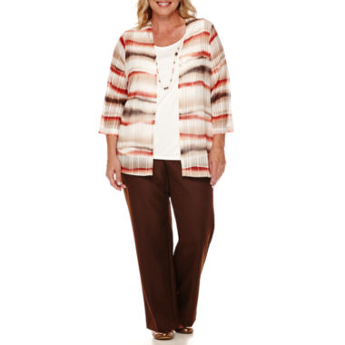 jcpenney.com | Alfred Dunner® Santa Fe 3/4-Sleeve Necklace Top or Pull-On Pants - Plus