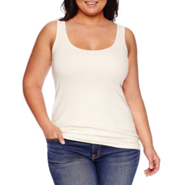 jcpenney.com | Stylus™ Essential Ribbed Tank Top - Plus