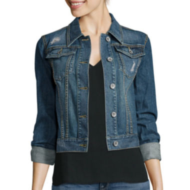 jcpenney.com | a.n.a® Long-Sleeve Denim Jacket