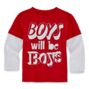 Okie Dokie® Long-Sleeve Tee - Toddler Boys 2t-5t