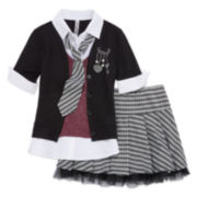 Beautees Top, Tie and Skirt/Shorts Set - Girls 7-16
