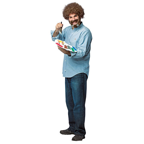 Buyseasons Bob Ross 4-pc. Dress Up Costume Mens