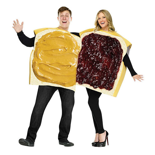 Peanut Butter And Jelly Couple Adult Costume - One-Size (Standard)