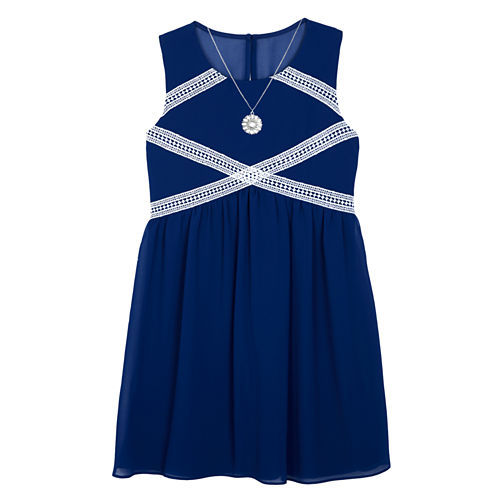 by&by girl Sleeveless Fit & Flare Dress - Big Kid Girls