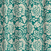 Cabbage Rose Faux Linen Textured Shower Curtain with 12 Color-Coordinated Metal Rings