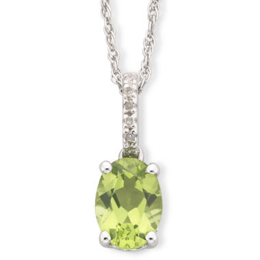 jcpenney.com | Peridot & Diamond-Accent Sterling Silver Pendant Necklace