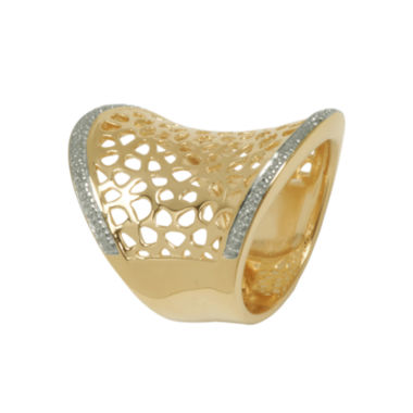 jcpenney.com | 14K Gold Over Silver Diamond-Accent Concave Ring