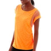 Xersion™ Mesh Mixed Media Muscle T-Shirt - Tall